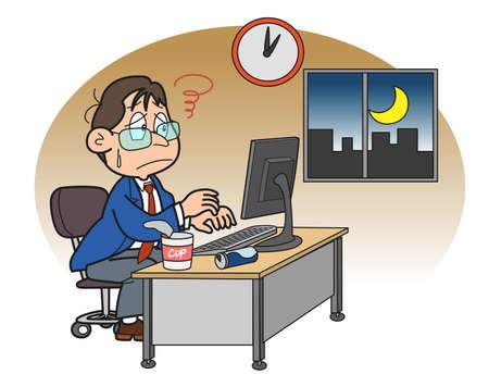night shift: Finishes the job