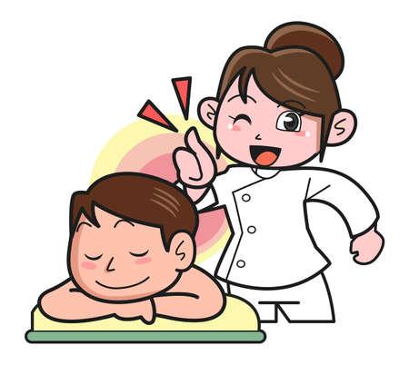 moxibustion: Massage