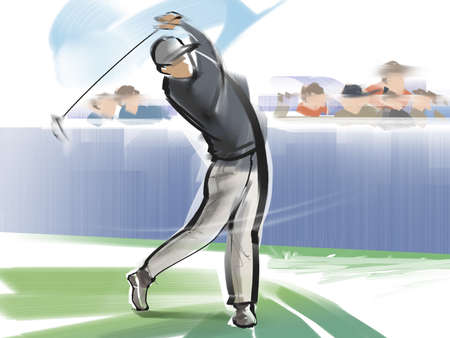 Golf - nice shot