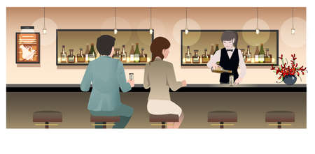 bar counter: Bar