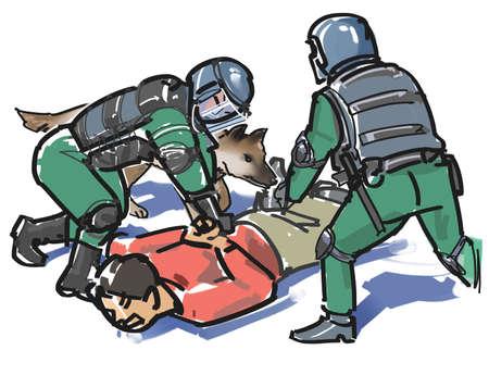 彼らは犯罪者を捕まえる