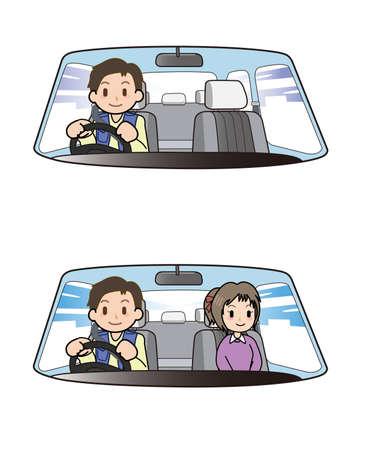 driving a car: Driving a car Stock Photo