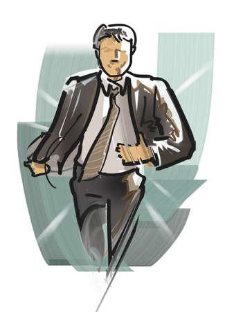 llegar tarde: Empleado de oficina no desaprovechó