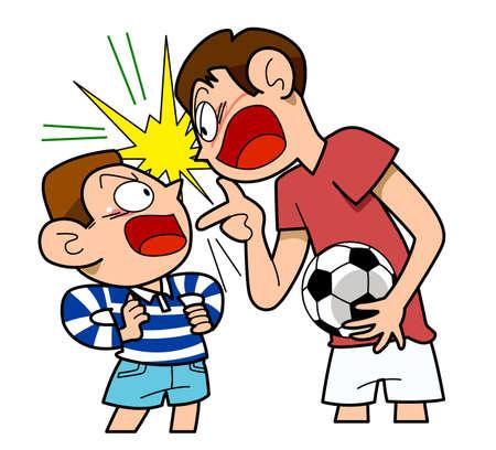 rival: Soccer-rival, vector illustration. Illustration
