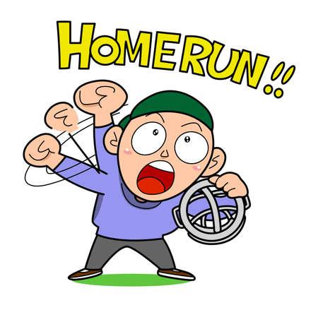 arbitro: Béisbol-Homerun Vectores