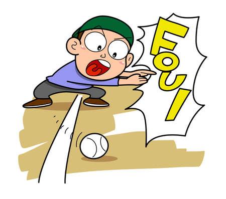 Baseball-Foul