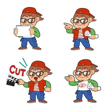 テレビ ディレクター  イラスト・ベクター素材
