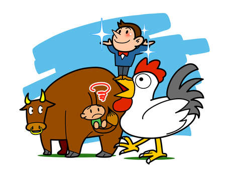 Proverb-The mouth of the chicken than the tail of a cow