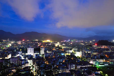 guangdong: Yunfu City night view, Guangdong