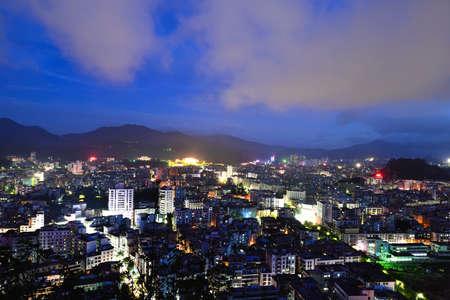 Yunfu City night view, Guangdong