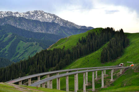 xinjiang: bridge at Xinjiang