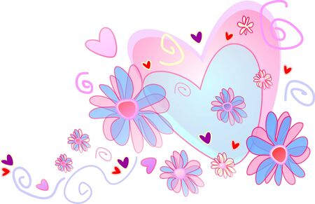 wedding heart with flowers isolated on white background Stock Photo - 7123336