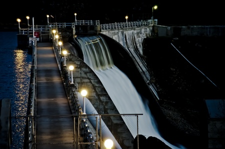 Night Photo of Black Canyon Dam out side of Emmett Idaho photo