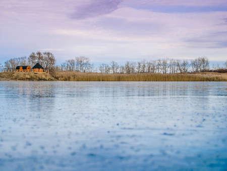 freezing: Beginning of winter freezing water