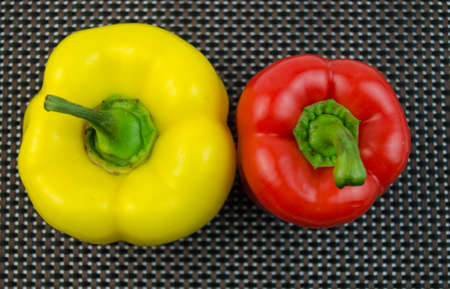 red peppers: Sweet yellow and red peppers