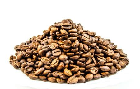 comida arabe: Grains of roasted coffee Foto de archivo