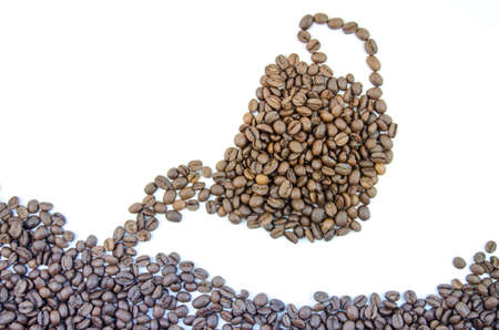 quantities: Fragrant coffee beans in large quantities Stock Photo