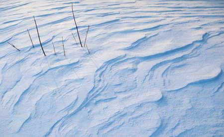 drifts: Snow drifts after snowstorm Stock Photo