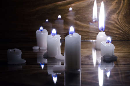 blue flame: Candle with blue flame