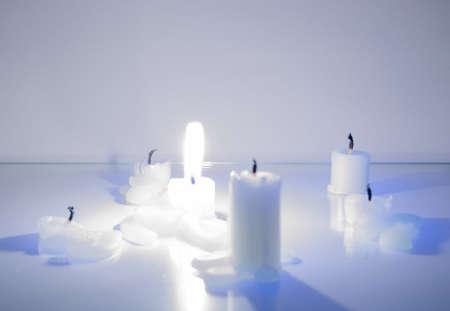 brightly: Brightly burning candle Stock Photo