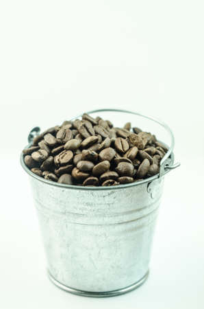 granule: Coffee on a white background
