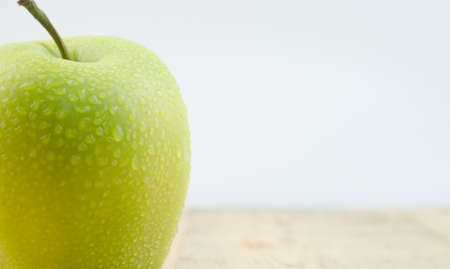 fruitage: Fresh green Apple Stock Photo
