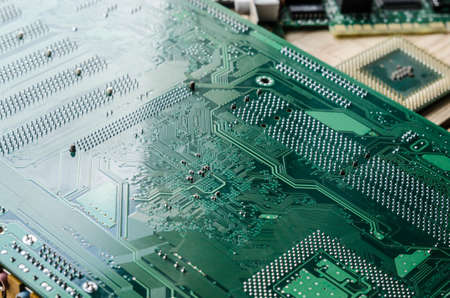 microprocessors: Technology, computer board Stock Photo