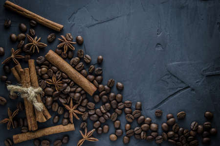 anise: Spices anise, cinnamon and coffee Stock Photo