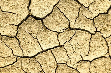cranny: Cracks on dry ground Stock Photo