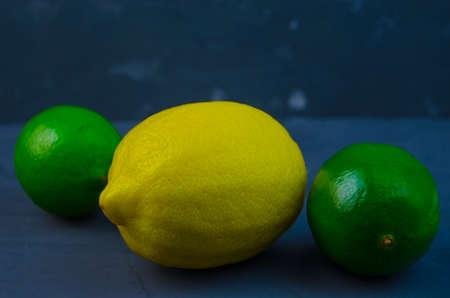 acidic: Acidic fruits, lime and lemon.