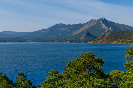 Lake amid high mountains.