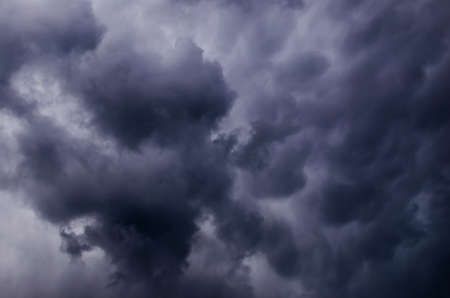 overcast: Storm clouds before a strong storm in the summer Stock Photo