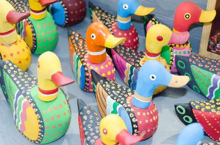 Ducks made of wood
