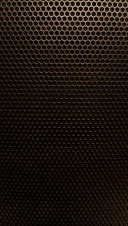 Abstract background metal mesh with even spaced holes in brown Stok Fotoğraf