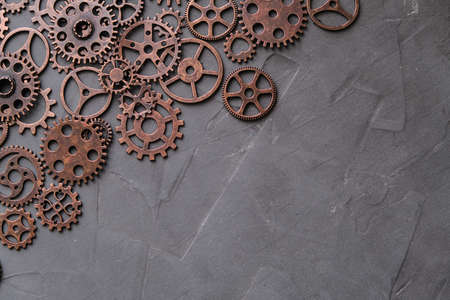 Lots of concrete-based gears.Background, gears and steampunk