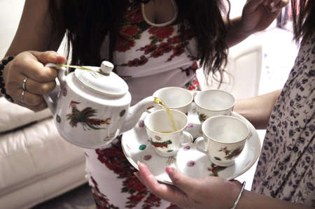 matchmaker: Puring tea for the elders in Wedding Day