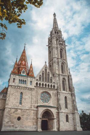 castle district: Matthias Church is a Roman Catholic church located in Budapest, Hungary, in front of the Fishermans Bastion at the heart of Budas Castle District.
