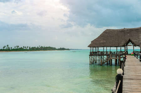 Jetty on the Zanzibar. Rest in the tropics
