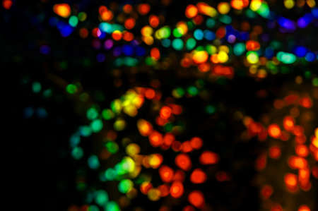 Colored lights out of focus, blurred lights of the street Stock Photo