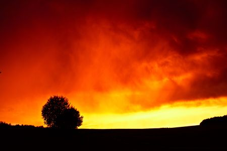 clowds: burning sky Stock Photo