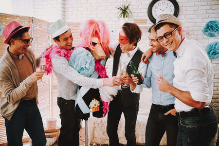 Gay men got together for a party and celebrate.