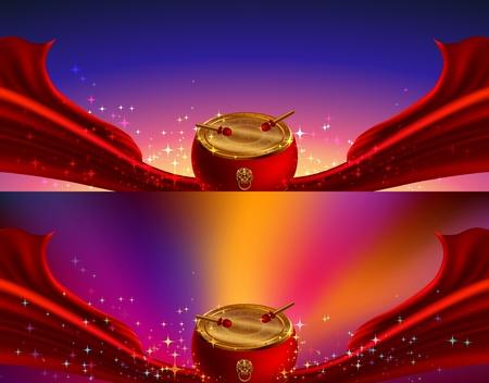 chino fondos de año nuevo, el elemento rojo chino Ilustración de vector