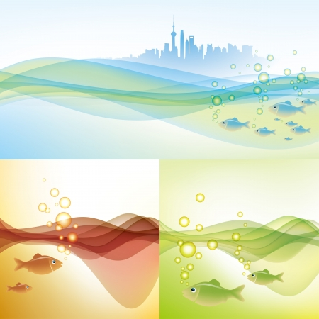 water environment of shanghai Illustration