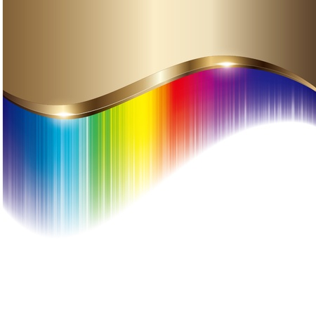smooth gold wave and colorful background