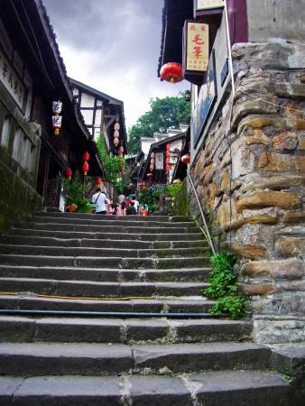 china chongqing ciqikou old town road