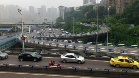 china chongqing traffic