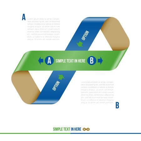Mobius strip of paper Stock Vector - 24756042