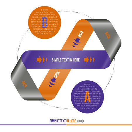 Mobius strip of paper  Vector option infographic  Vector