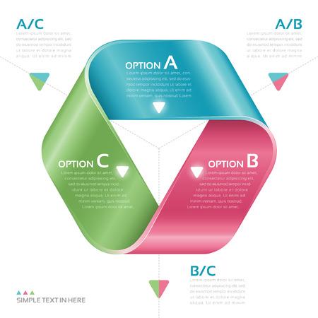 Mobius strook papier Vector optie infographic Stock Illustratie