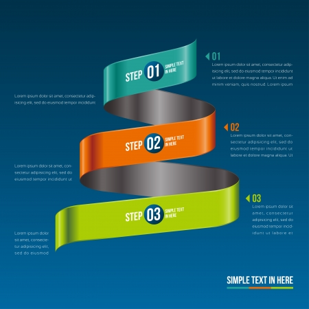 Steps paper strip template  Vector option info graphic